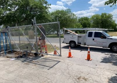 Austin gate installation